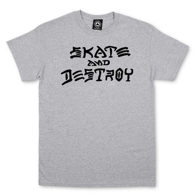 Camiseta Thrasher Magazine Skate And Destroy - Cinza Mescla