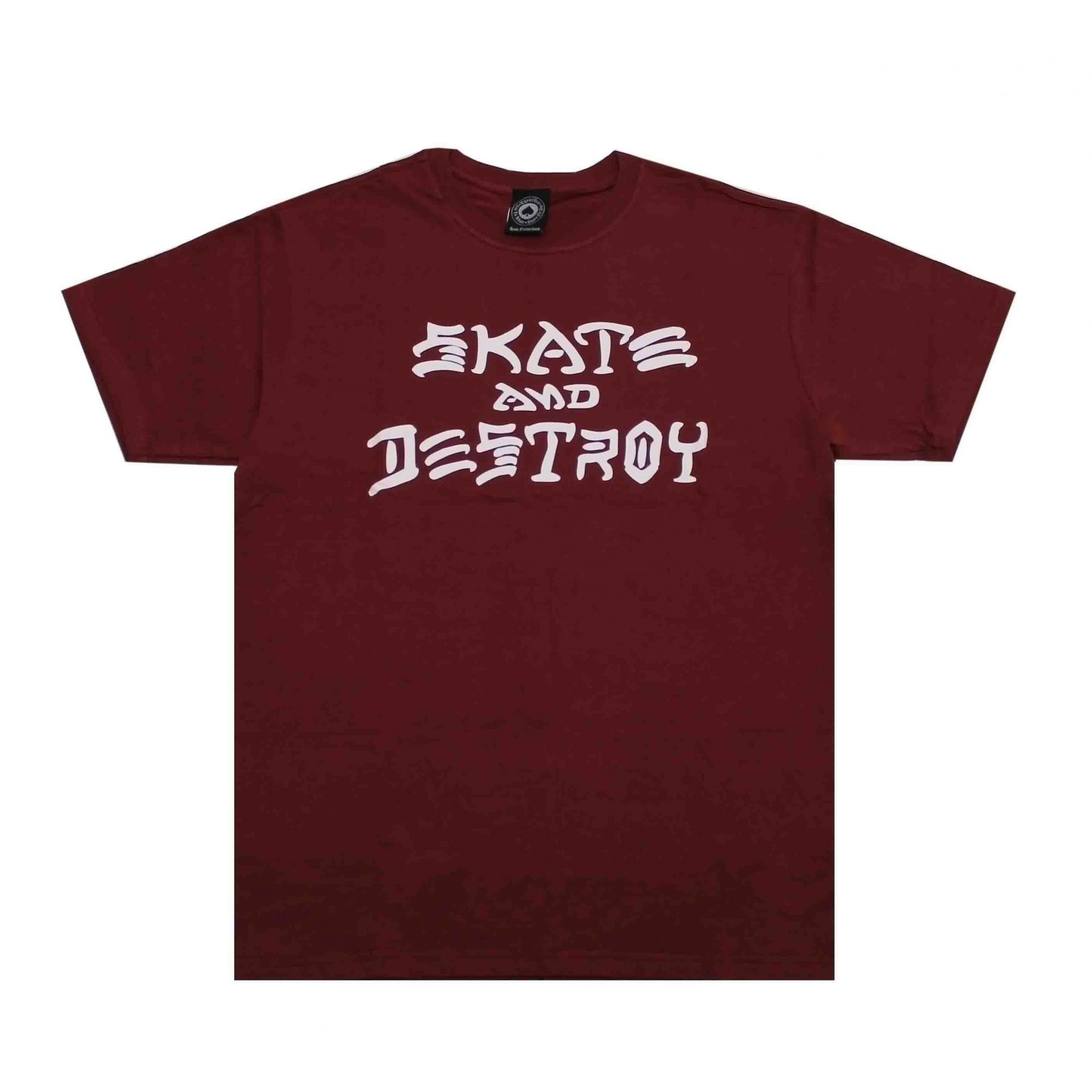 Camiseta Thrasher Magazine Skate and Destroy Vinho