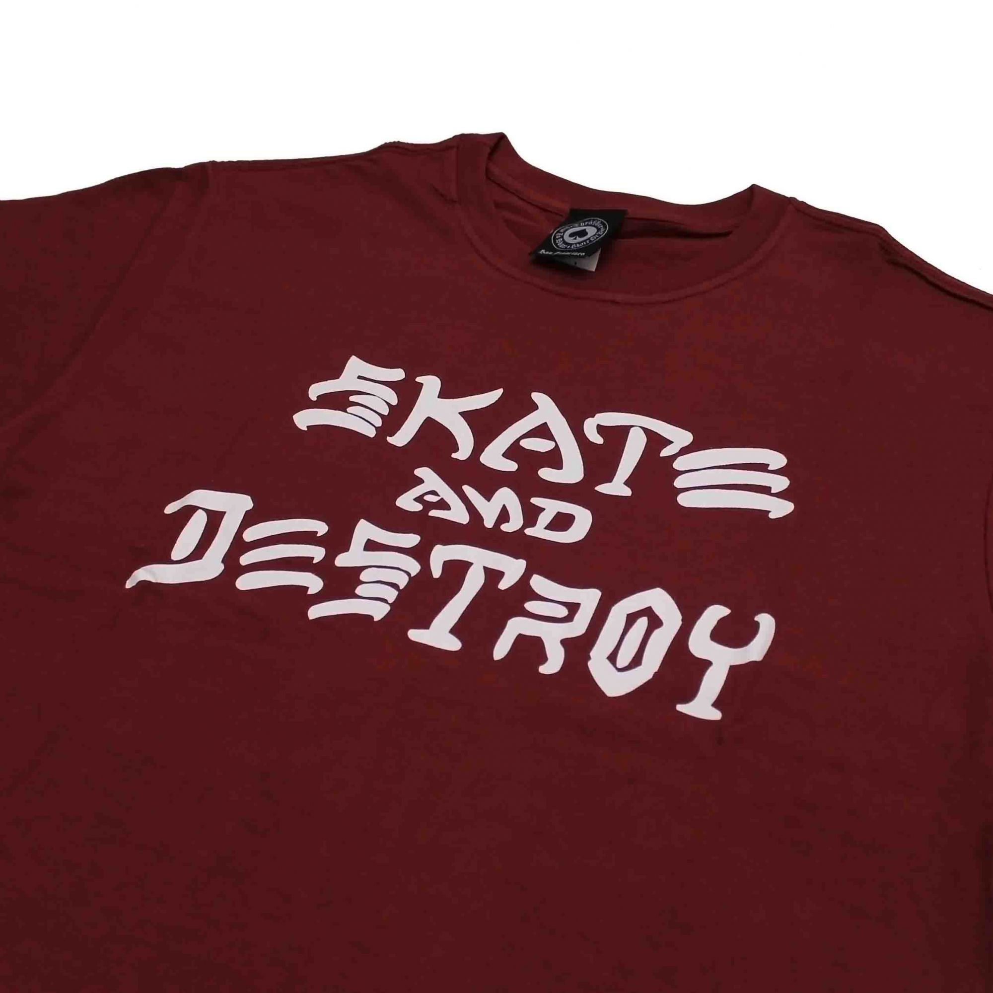 Camiseta Thrasher Magazine Skate and Destroy - Vinho