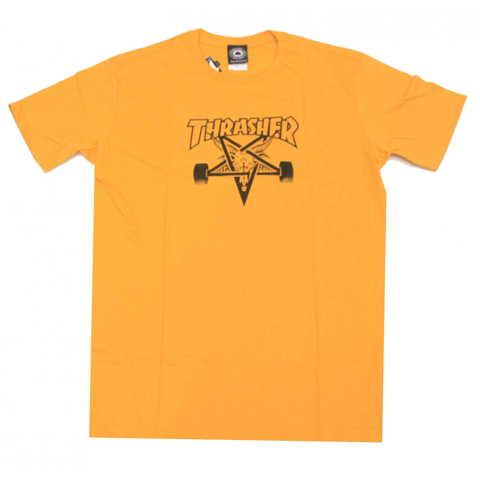 Camiseta Thrasher Magazine Skate Goat - Amarelo
