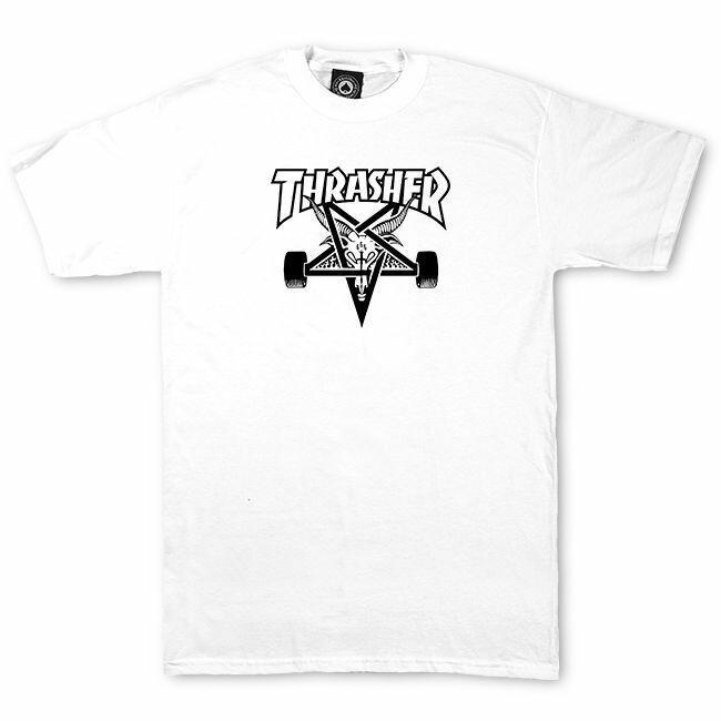 Camiseta Thrasher Magazine Skate Goat - Branco