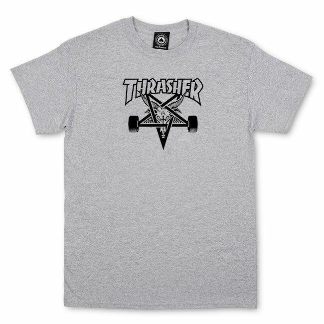 Camiseta Thrasher Magazine Skate Goat - Cinza Mescla