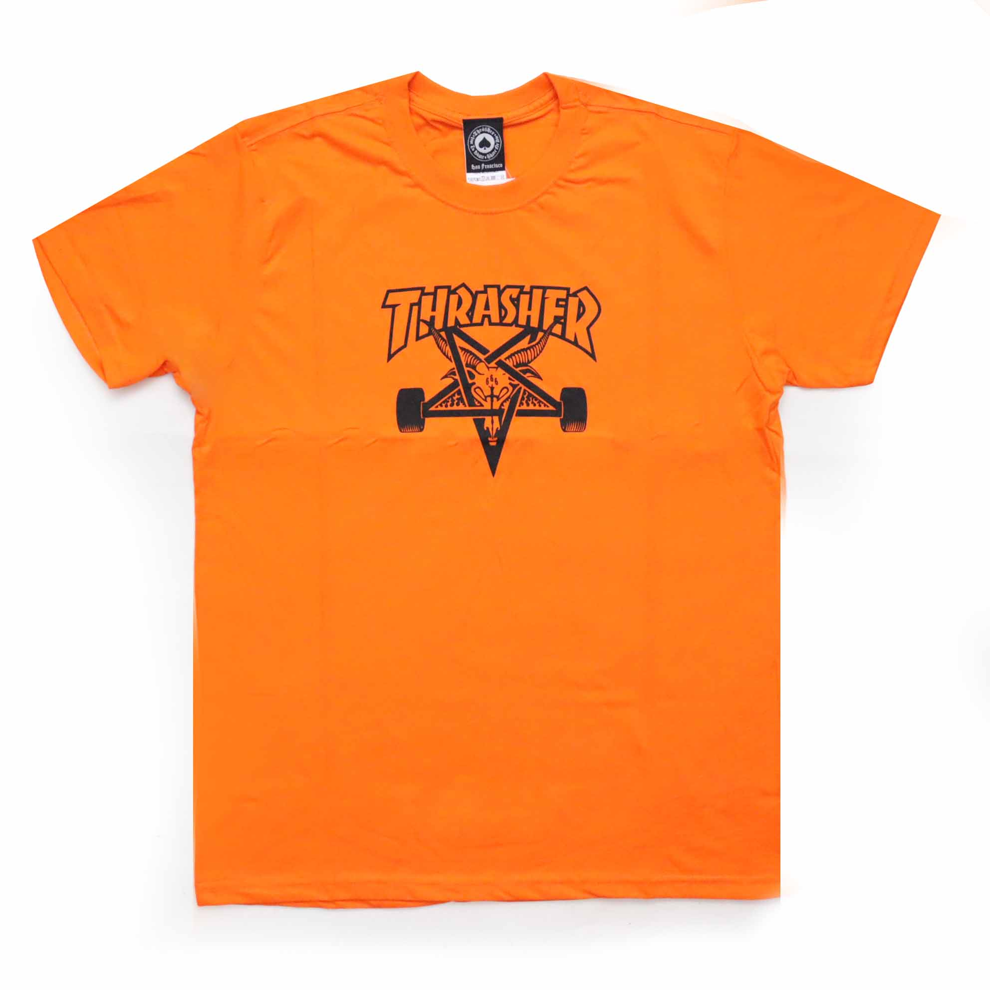 Camiseta Thrasher Magazine Skate Goat - Laranja