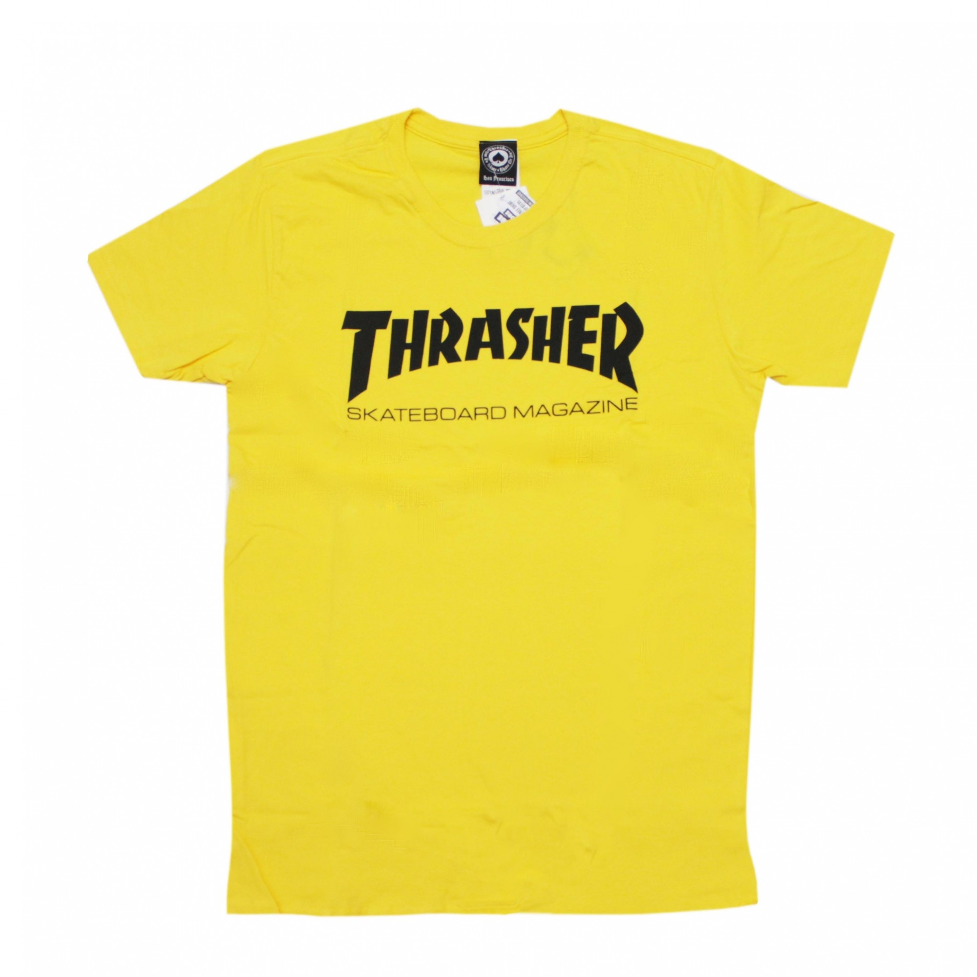 Camiseta Thrasher Magazine Skate Mag - Amarelo