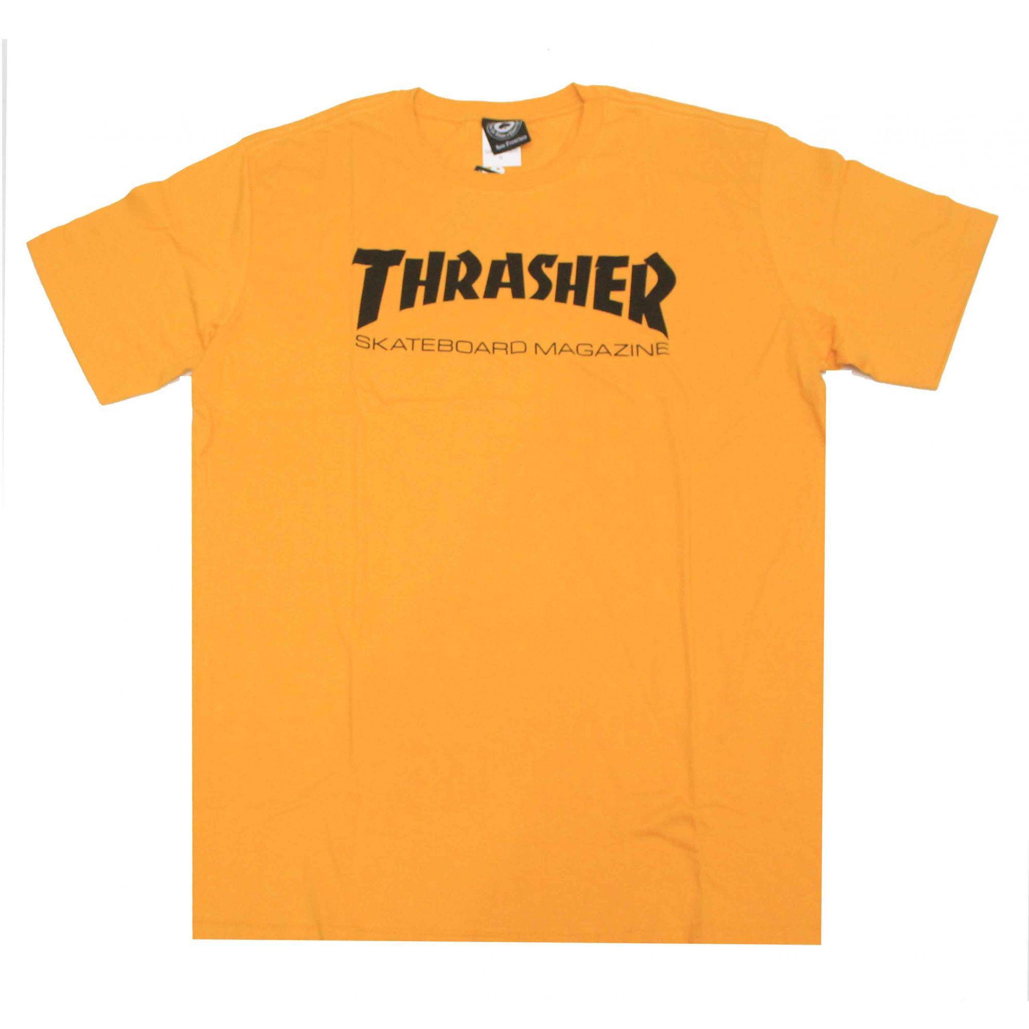 Camiseta Thrasher Magazine Skate Mag Amarelo Mostarda