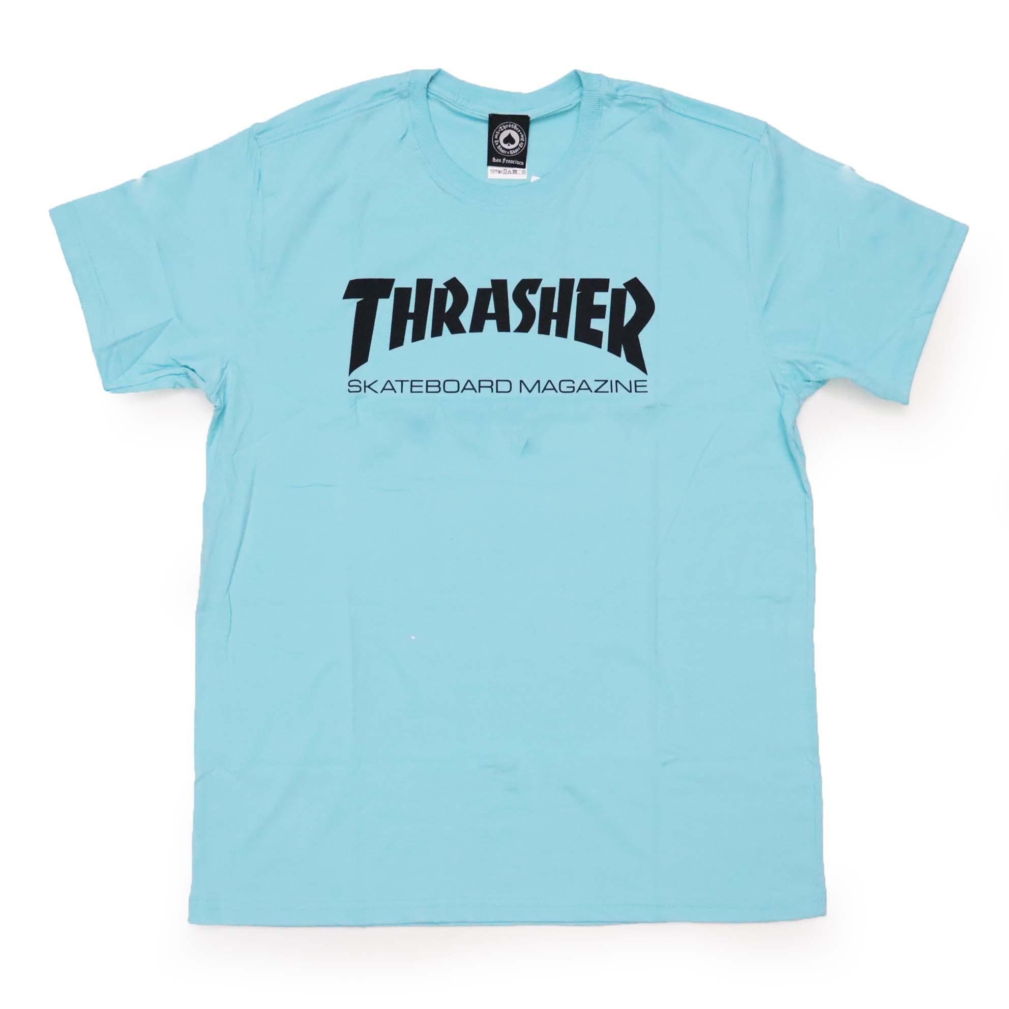 Camiseta Thrasher Magazine Skate Mag - Azul Claro