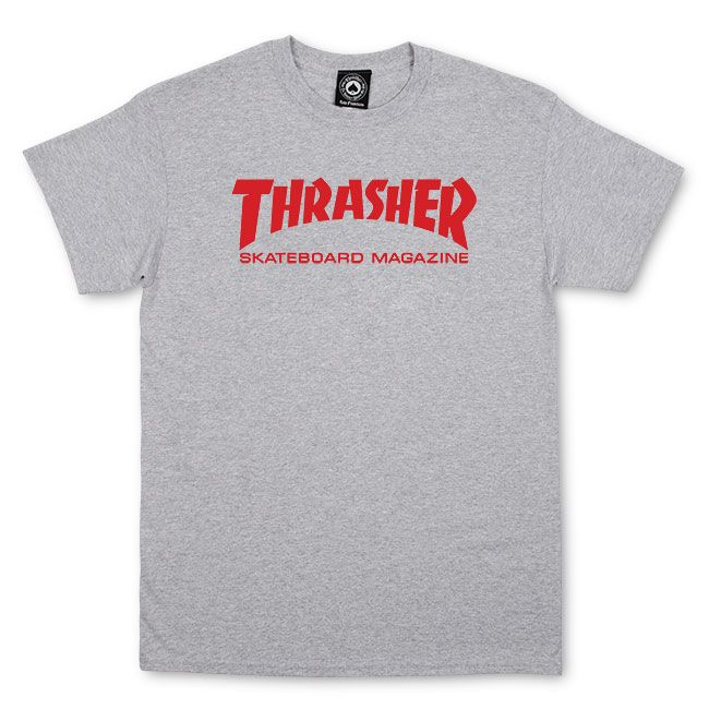 Camiseta Thrasher Magazine Skate Mag Cinza Mescla