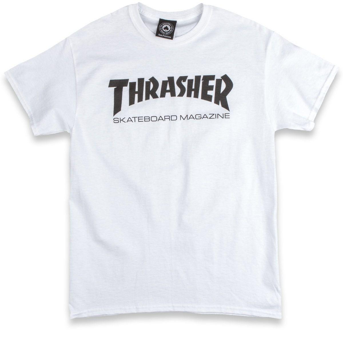 Camiseta Thrasher Magazine Skate Mag White