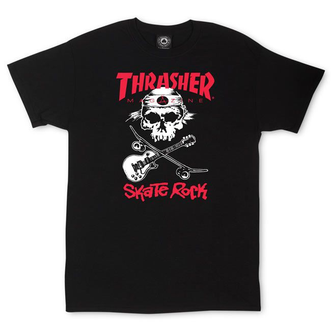 Camiseta Thrasher Magazine Skate Rock Black