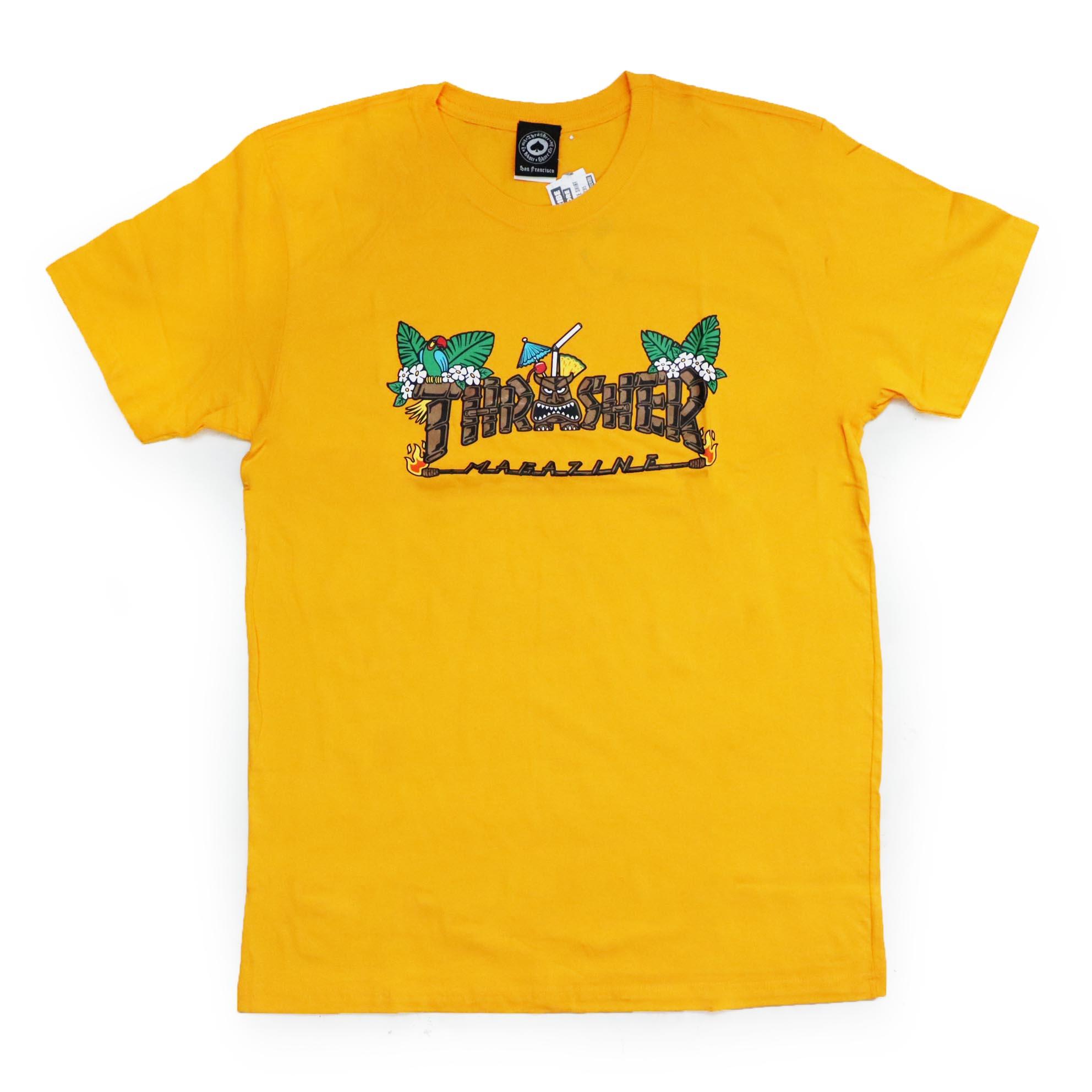 Camiseta Thrasher Magazine Tiki - Amarelo