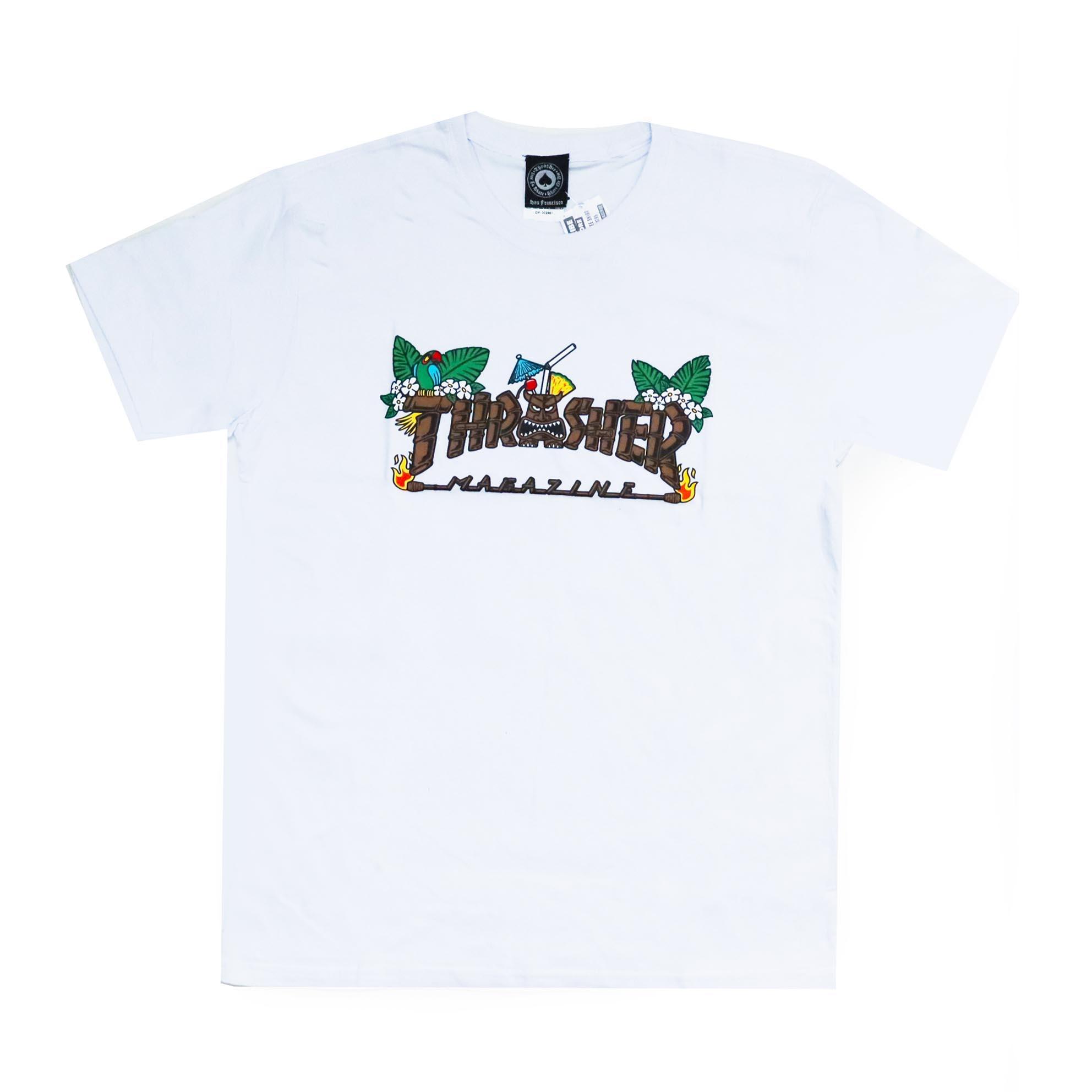 Camiseta Thrasher Magazine Tiki - Branco