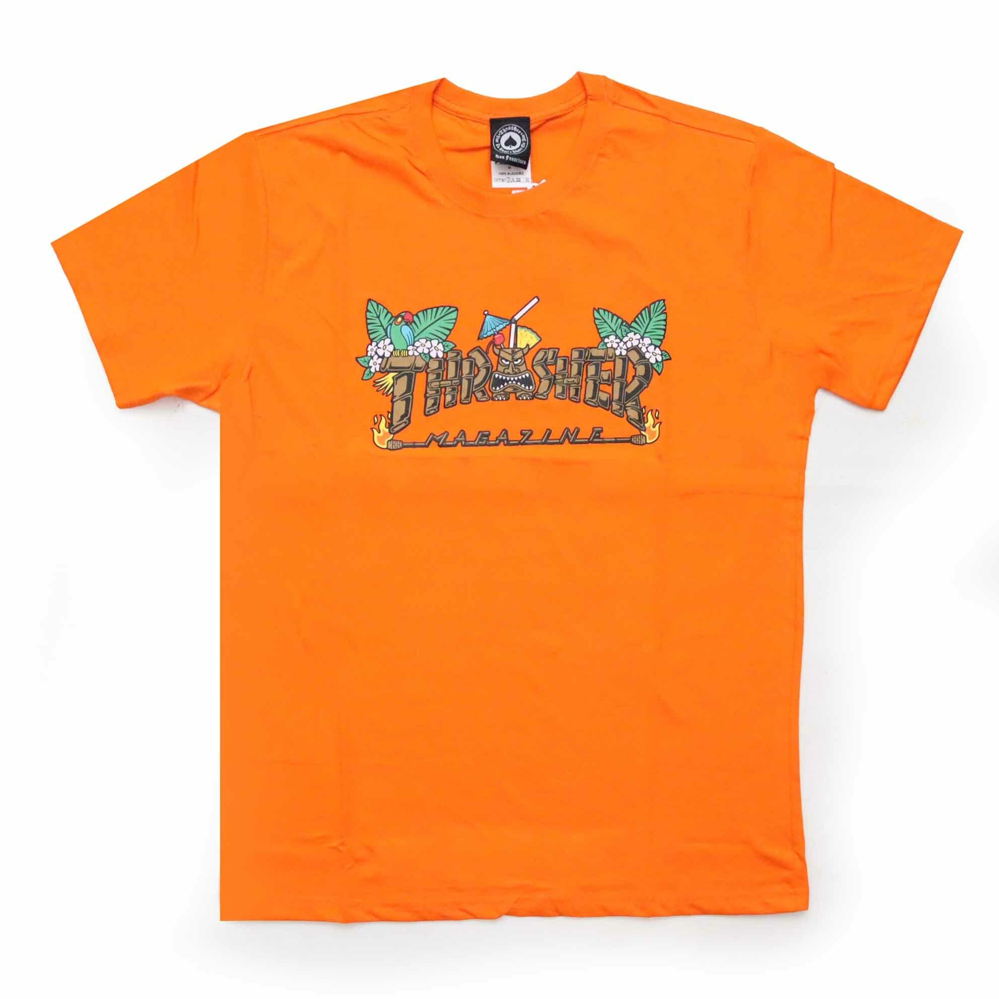 Camiseta Thrasher Magazine Tiki - Laranja