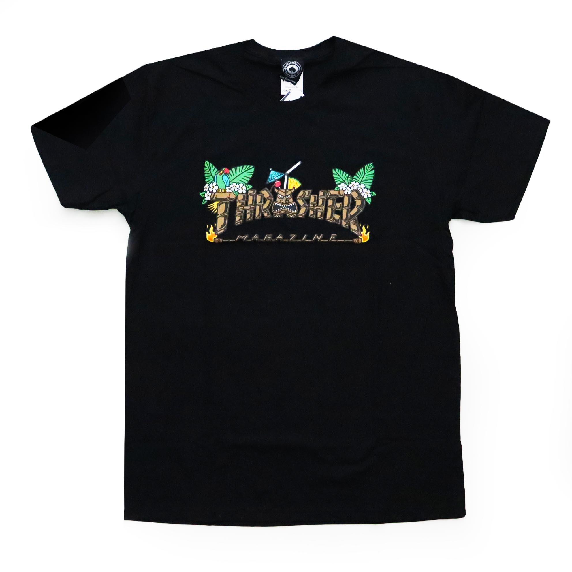 Camiseta Thrasher Magazine Tiki - Preto
