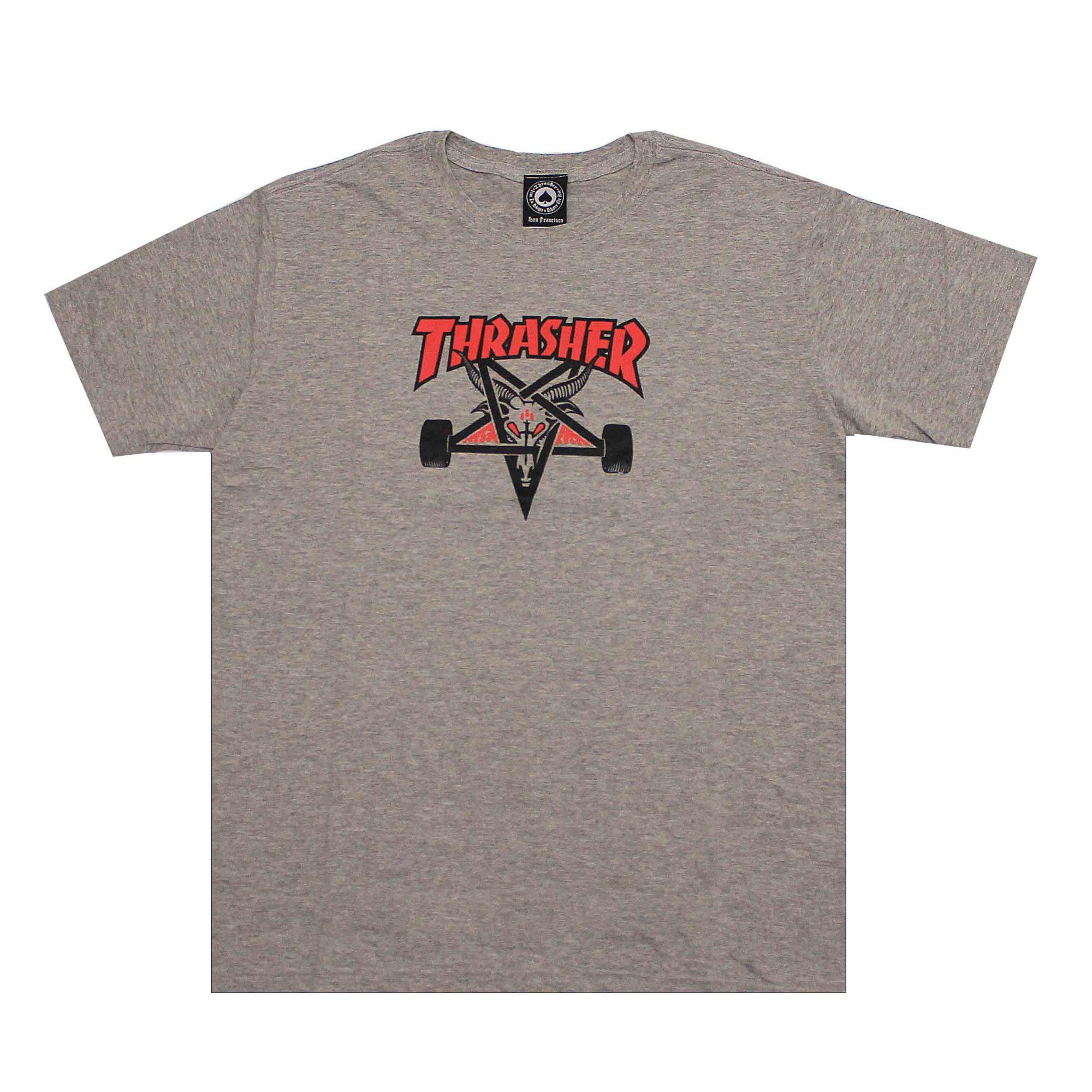 Camiseta Thrasher Magazine Two Tone Skate Goat - Cinza Mescla