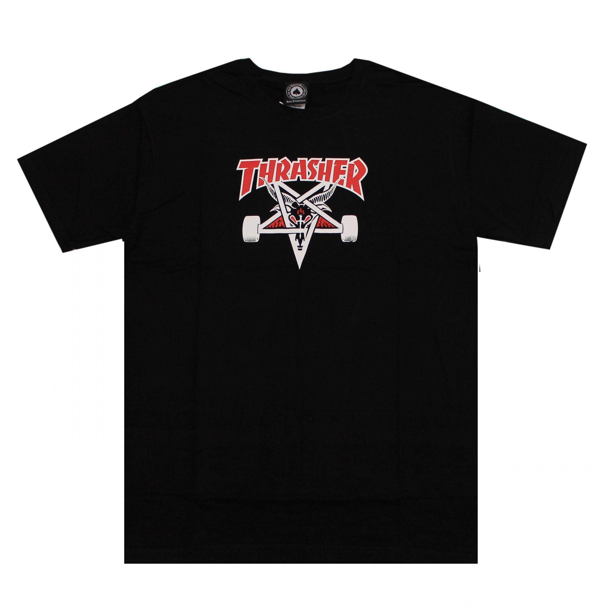 Camiseta Thrasher Magazine Two Tone Skate Goat - Preto