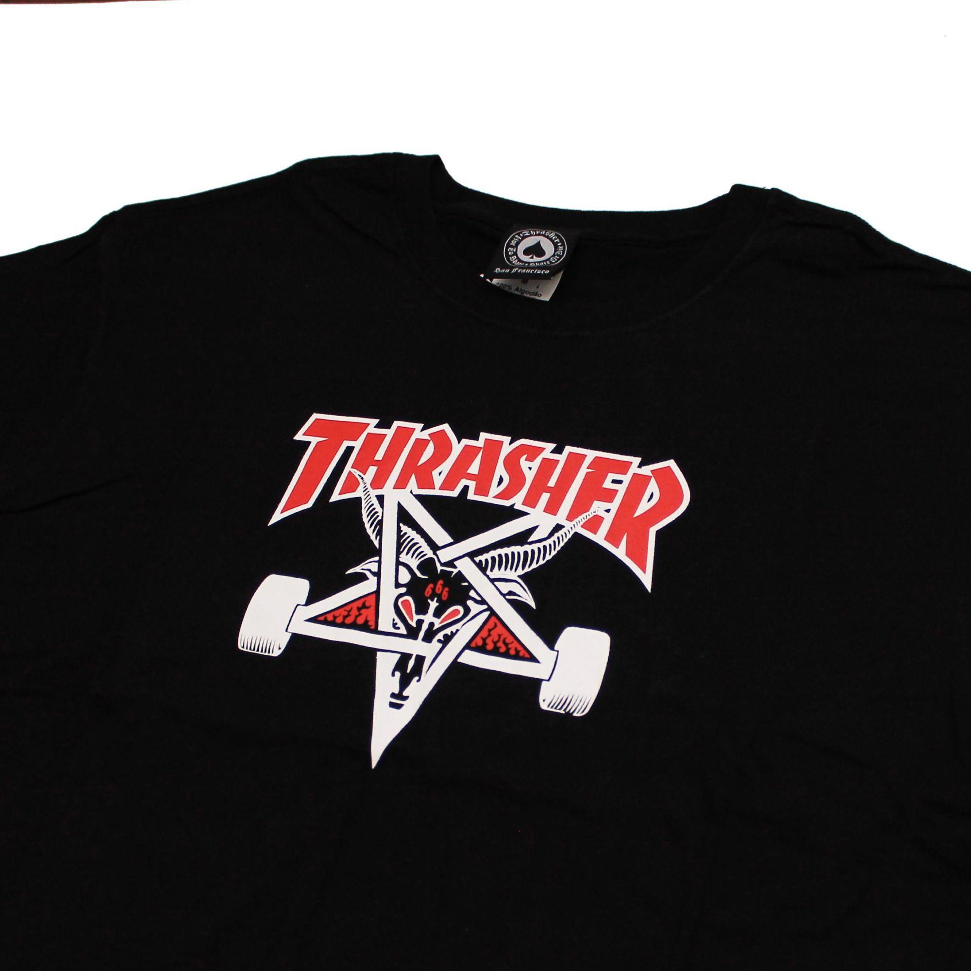 Camiseta Thrasher Magazine Two Tone Skate Goat Preto