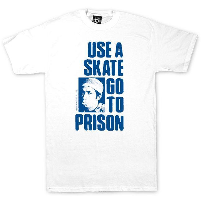 Camiseta Thrasher Magazine Use a Skate Go to The Prision - Branco
