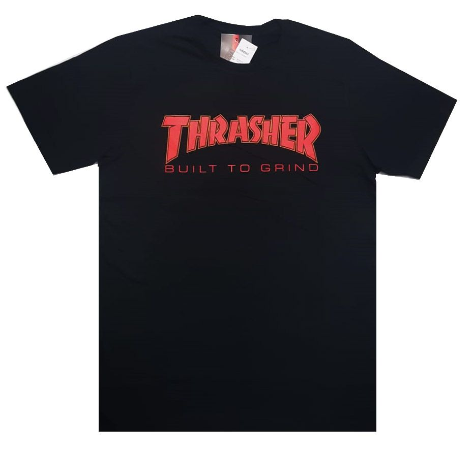 Camiseta Thrasher Magazine x Independent Build To Grind - Preto