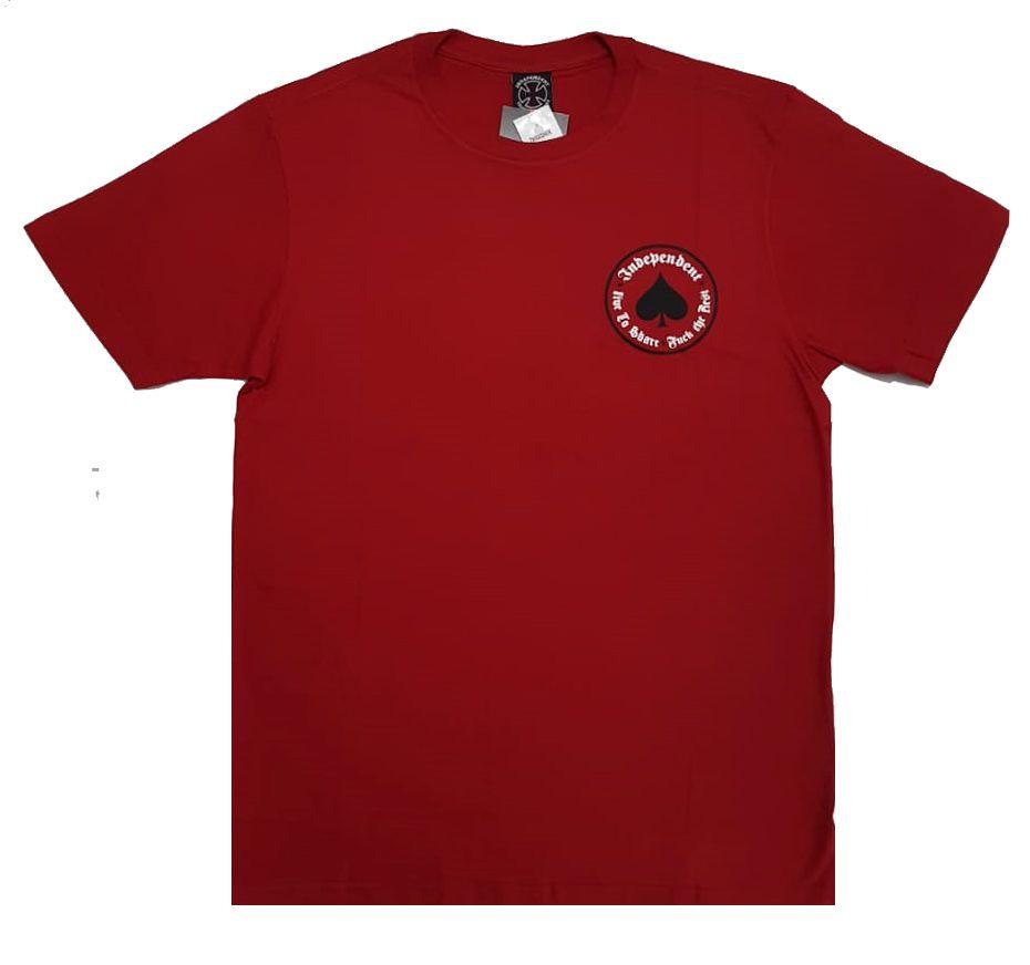 Camiseta Thrasher Magazine x Independent Oath - Vermelho