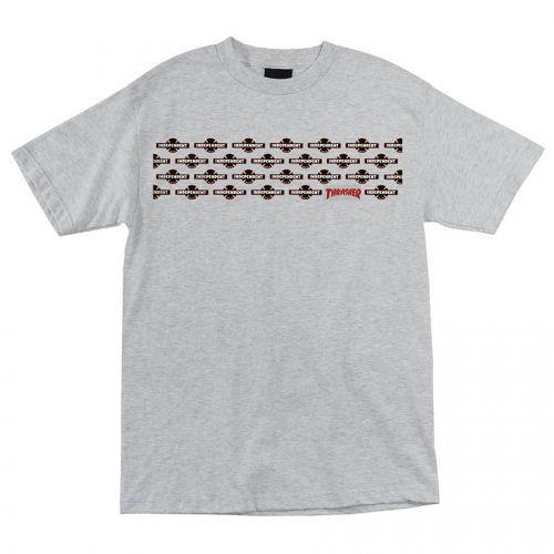 Camiseta Thrasher Magazine x Independent Pentagram Cross - Cinza Mescla