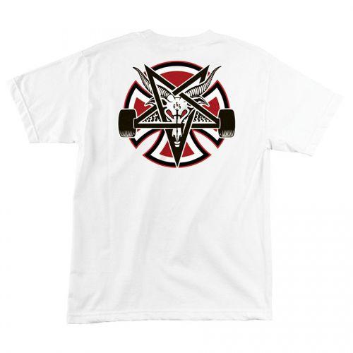 Camiseta Thrasher Magazine x Independent Pentagram Cross White