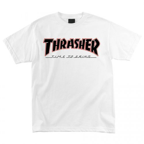 Camiseta Thrasher Magazine x Independent Time To Grind Branco