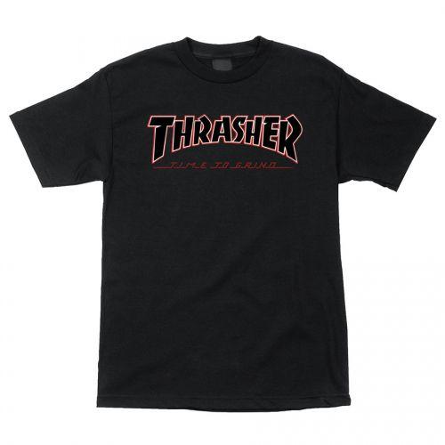 Camiseta Thrasher Magazine x Independent Time To Grind - Preto