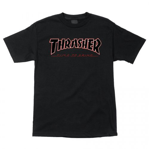 Camiseta Thrasher Magazine x Independent Time To Grind Preto