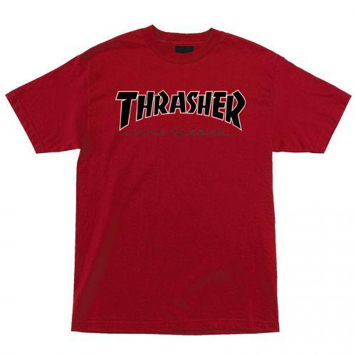 Camiseta Thrasher Magazine x Independent Time To Grind Vermelha