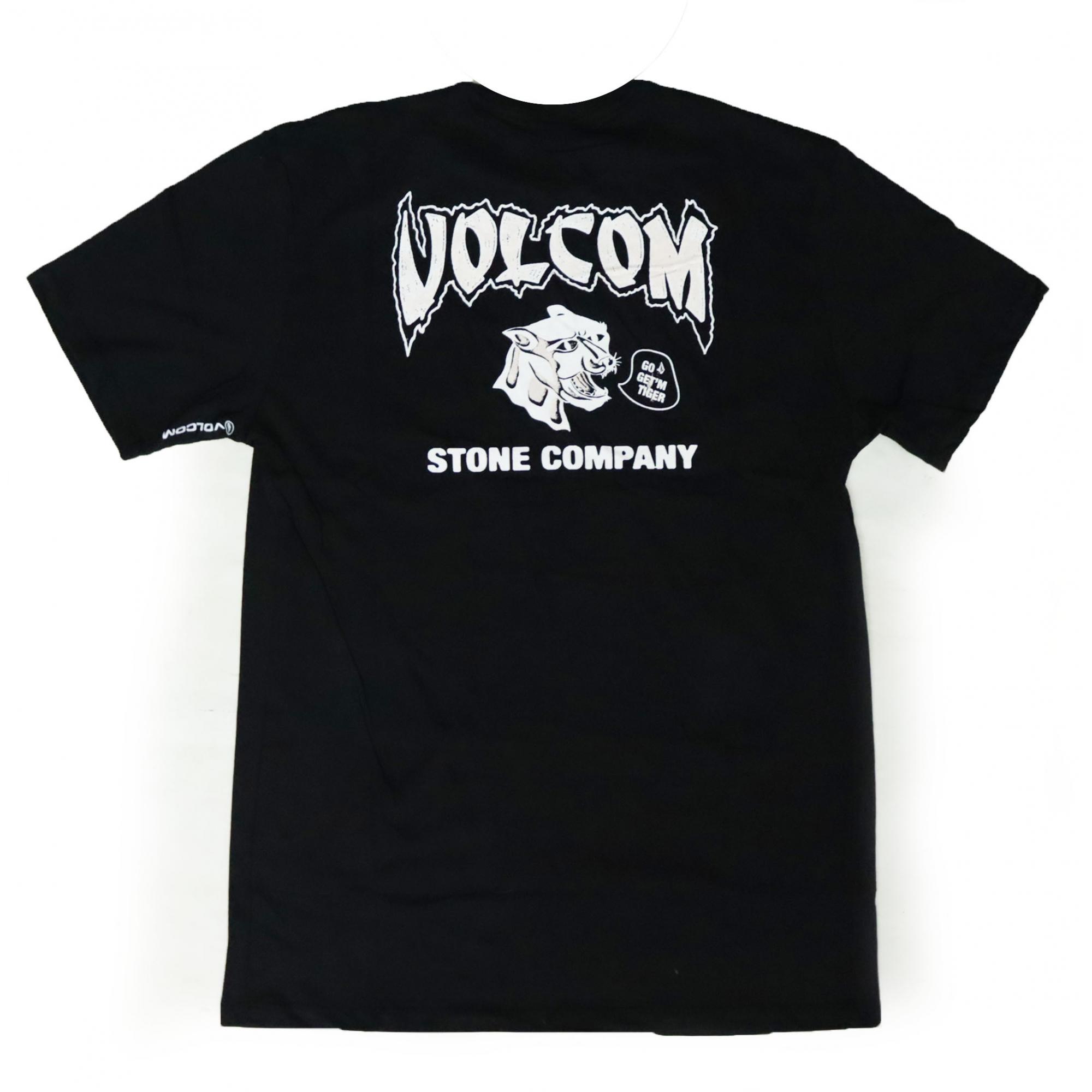 Camiseta Volcom Go Get Tiger - Preto