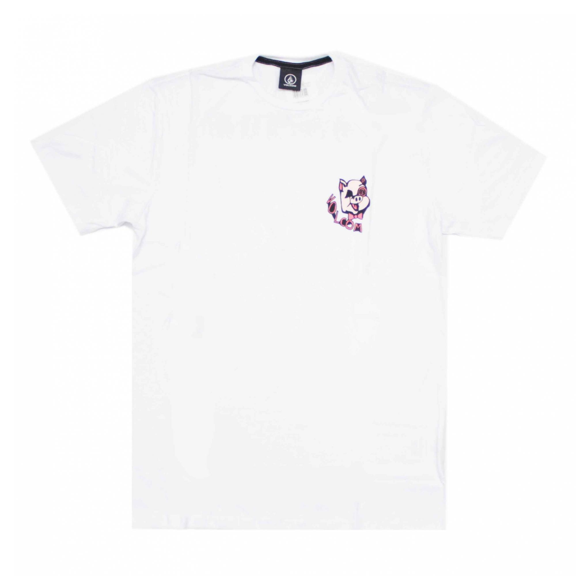 Camiseta Volcom Wiggly - Branco
