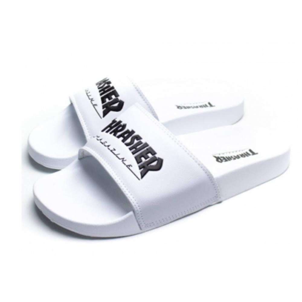 Chinelo Thrasher Magazine Slide Skate Mag - Branco