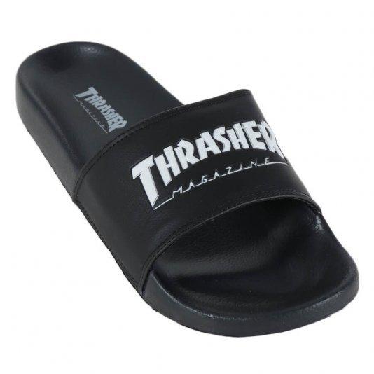 Chinelo Thrasher Magazine Slide Skate Mag - Preto