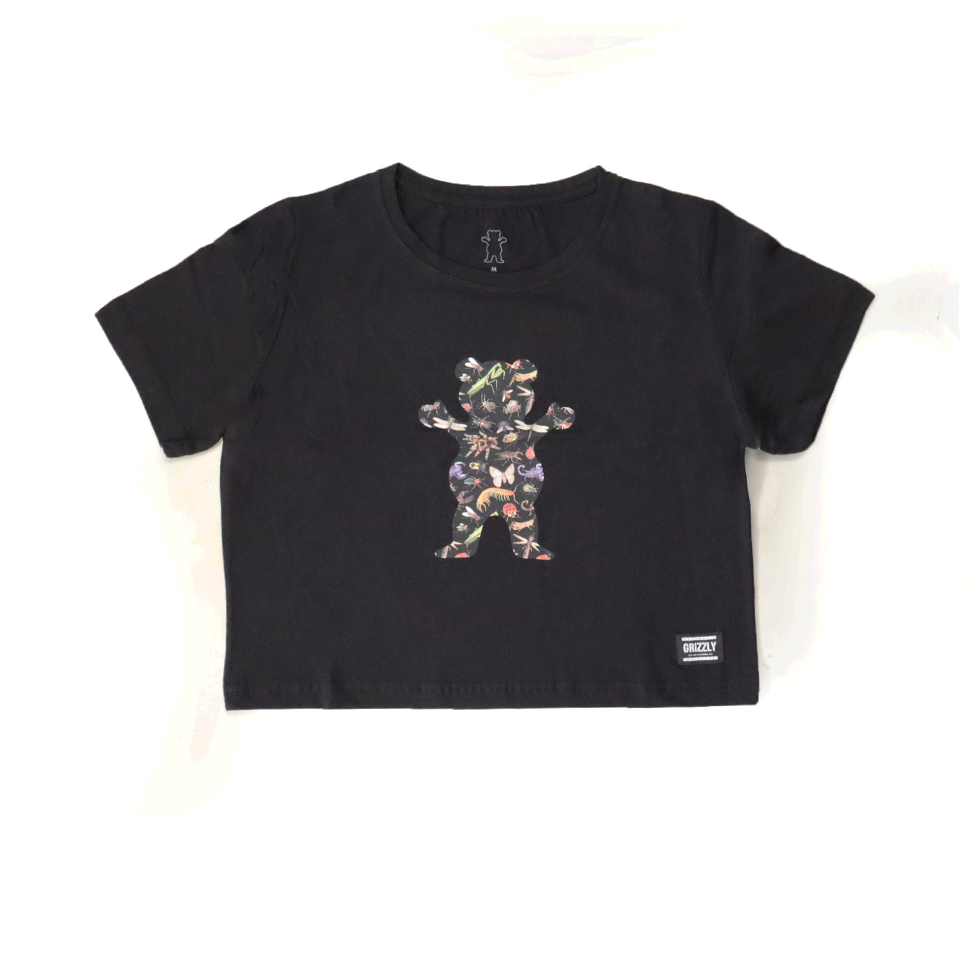 Cropped Grizzly Boo Bugs - Preto