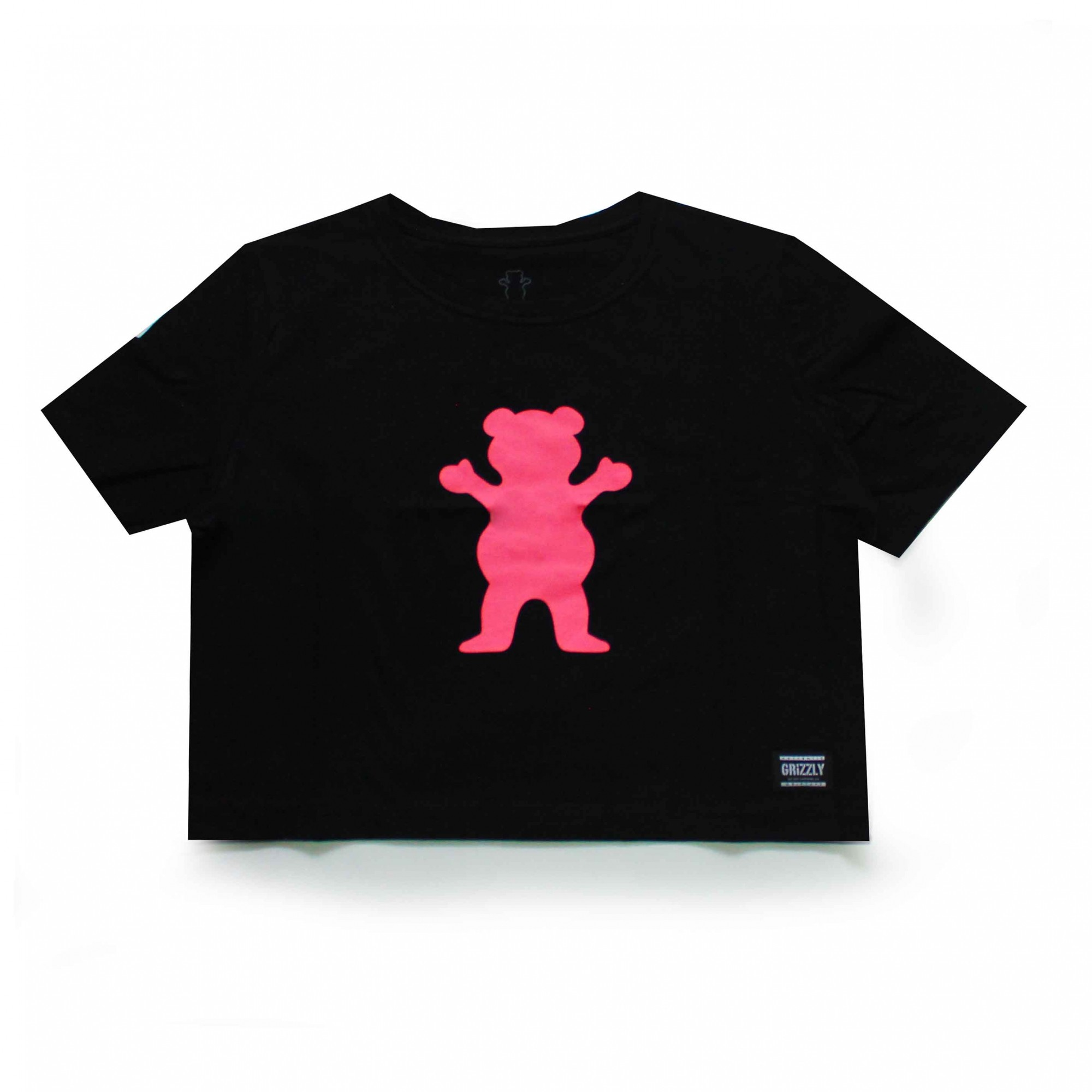 Cropped Grizzly Og Bear - Preto/Rosa