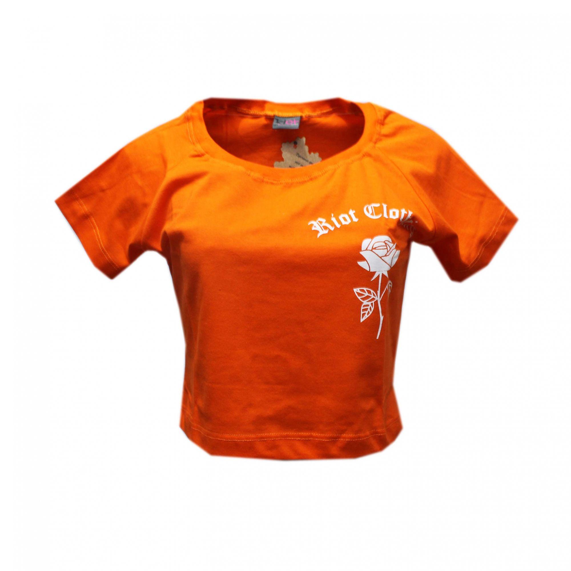 Cropped Riot Raglan Orange is The New Black Laranja