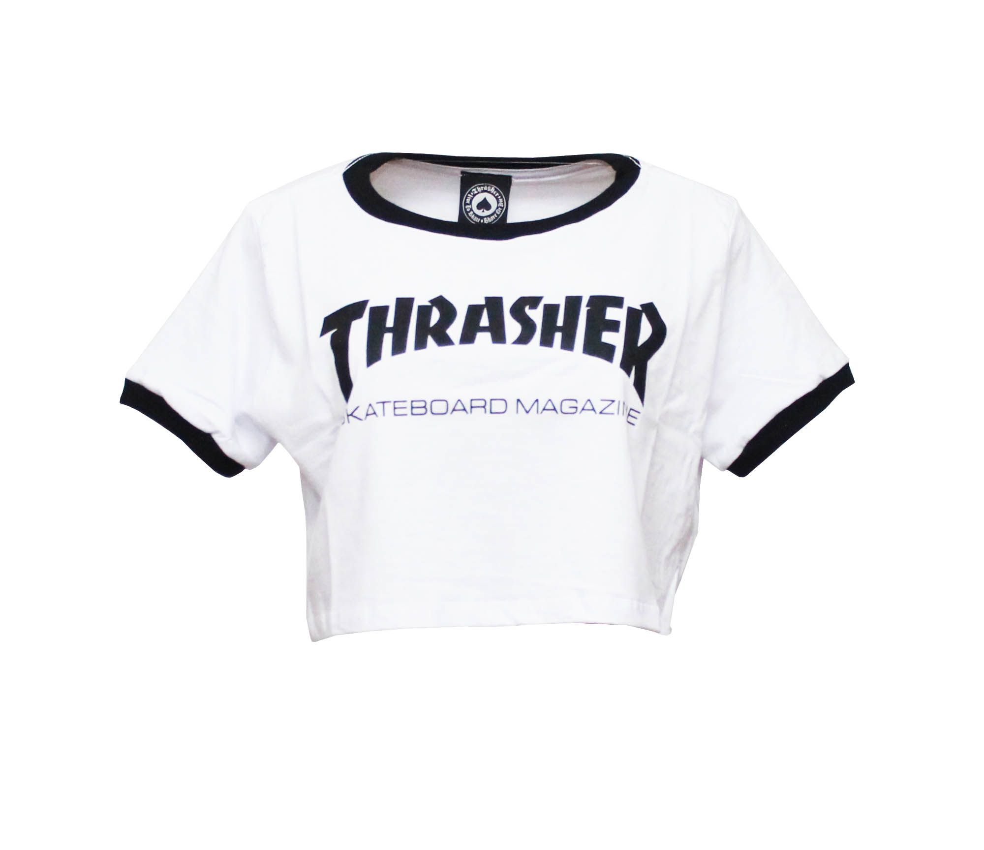 Cropped Thrasher Magazine Skate Mag Branco