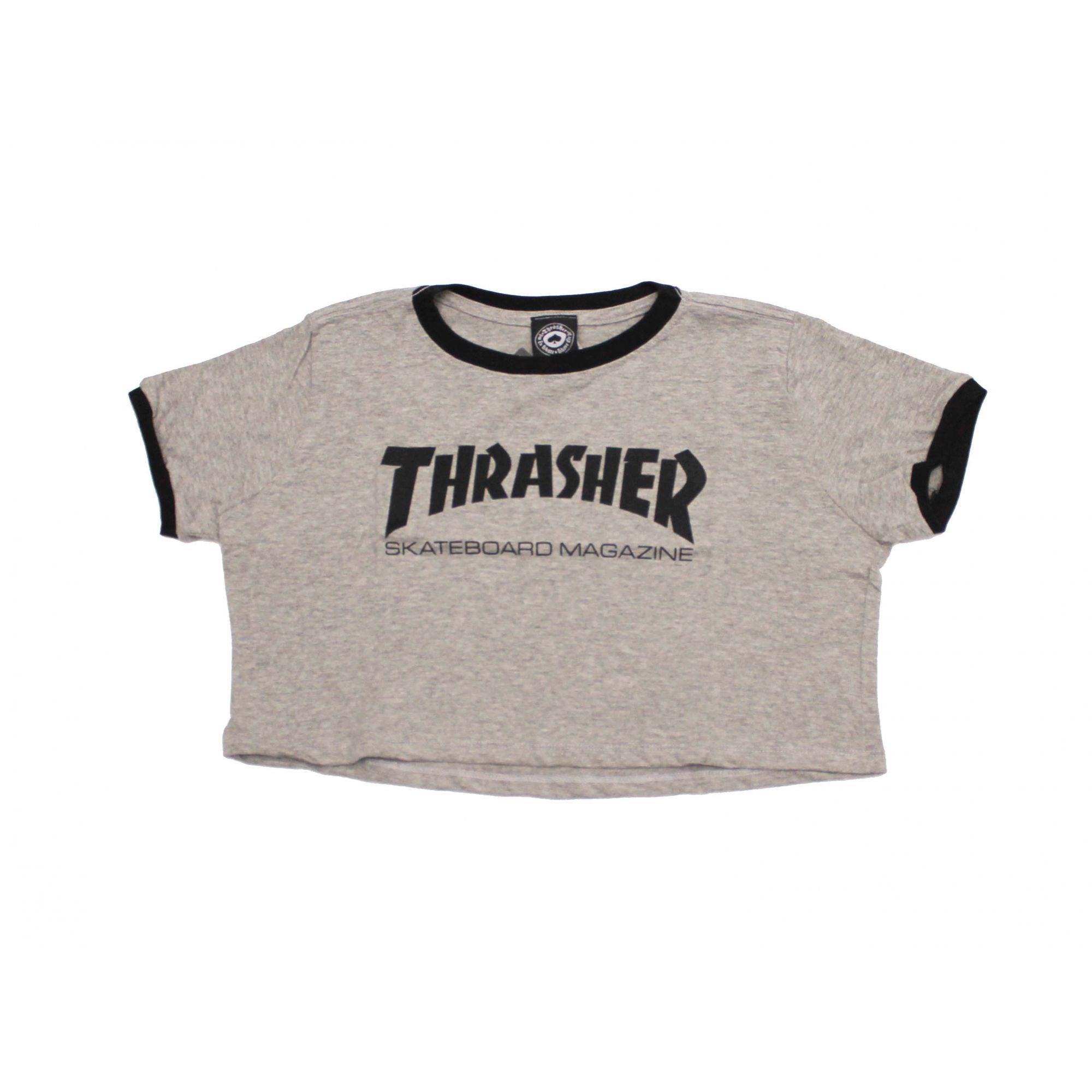 Cropped Thrasher Magazine Skate Mag - Cinza Mescla