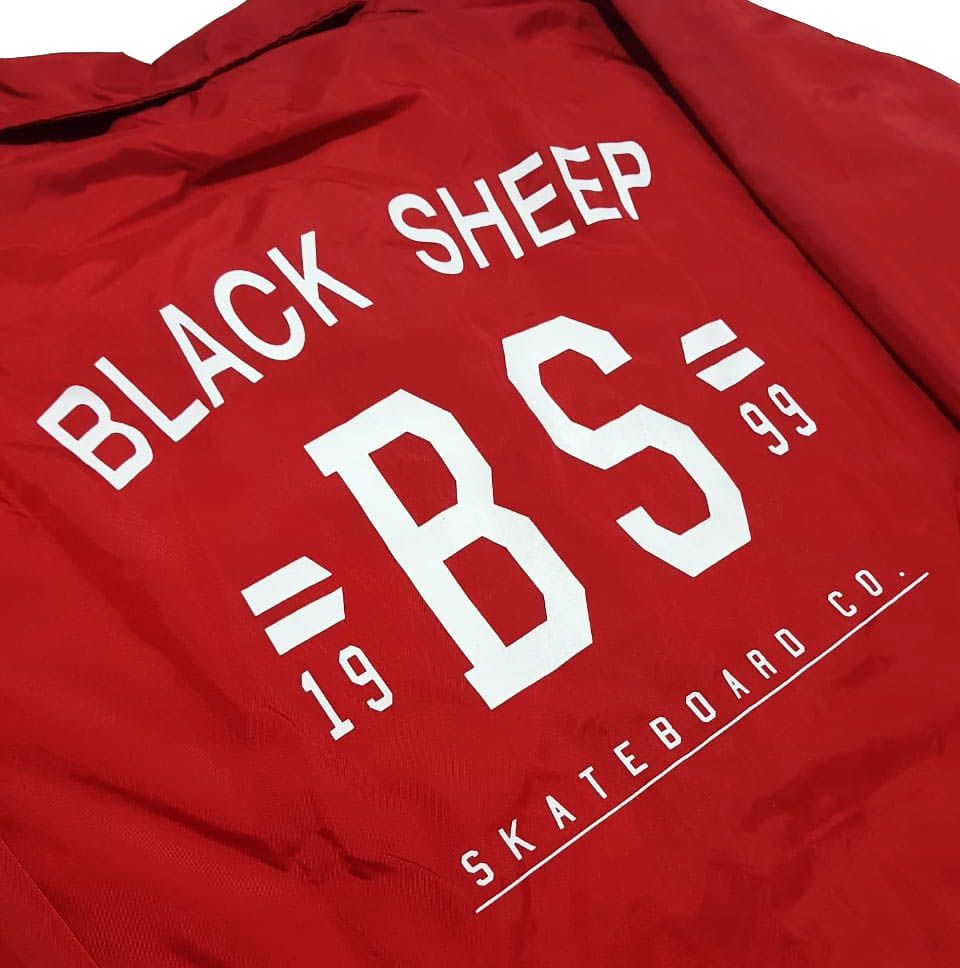 Jaqueta Corta Vento Black Sheep College Red