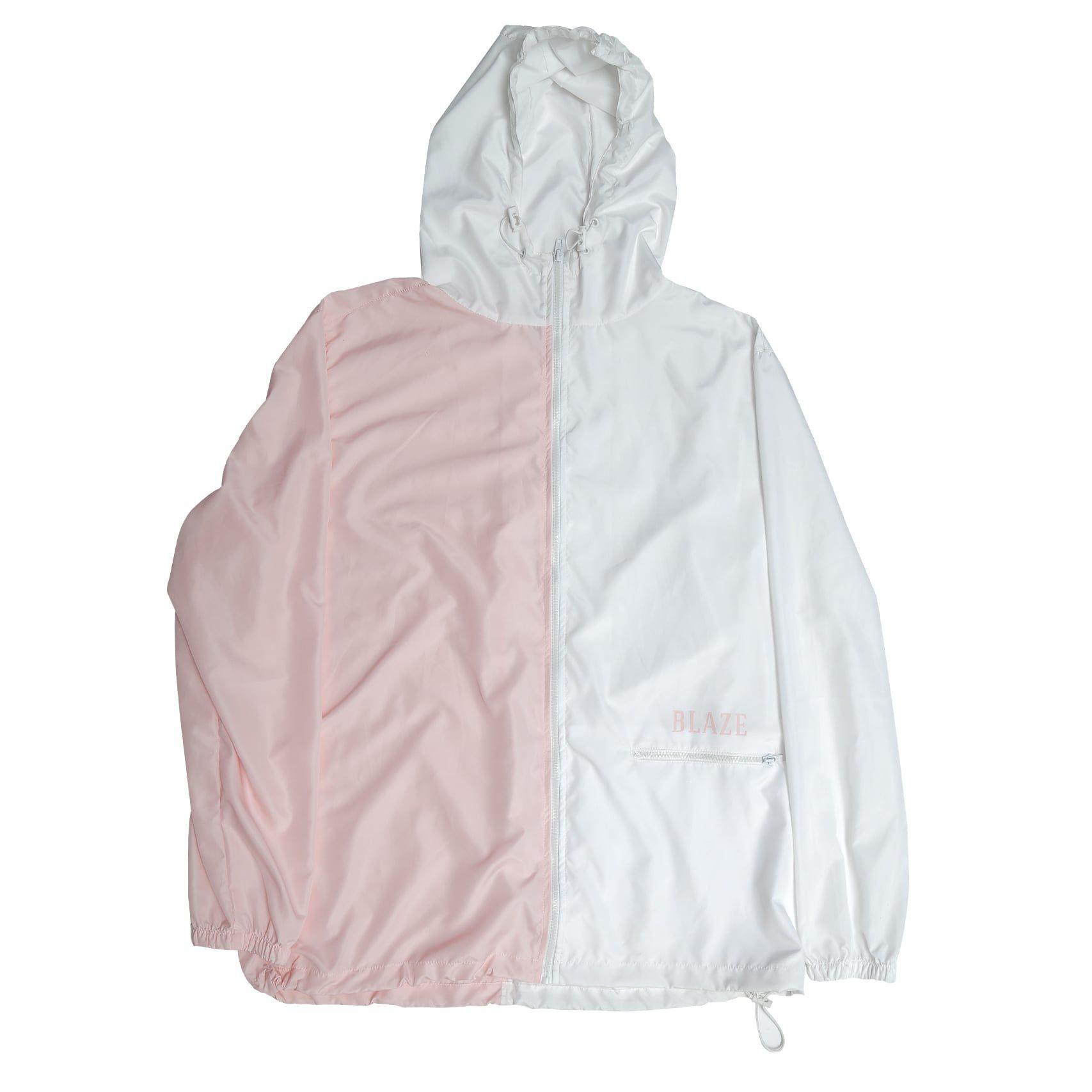 Jaqueta Corta Vento Blaze Bi Color Skin Rosa/Branco