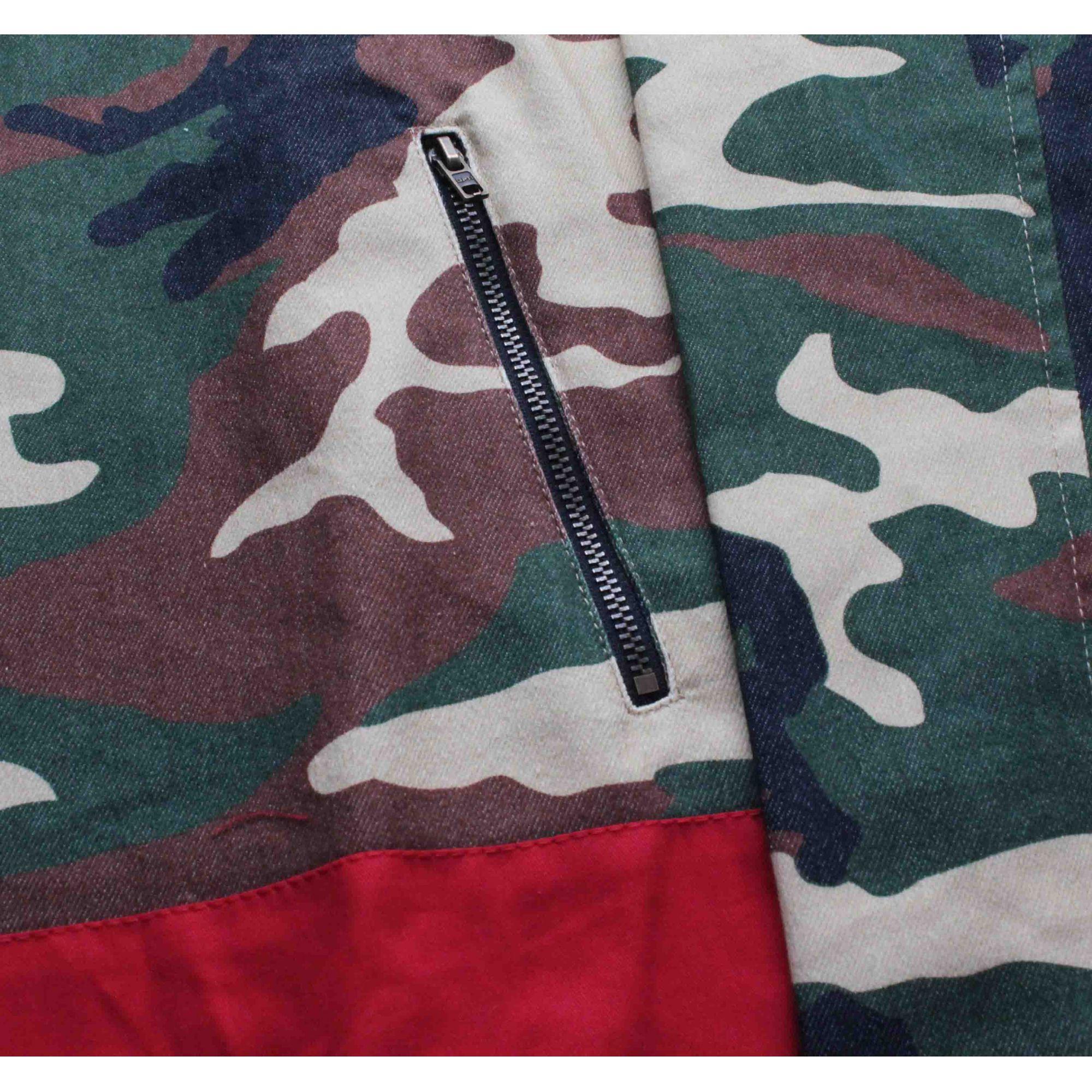 Jaqueta Corta Vento Grizzly Artillery Half Zip Camo