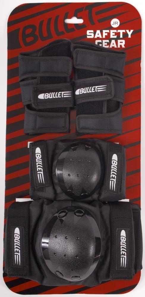 Kit de proteção Bullet Deluxe Juvenil G Black Importado