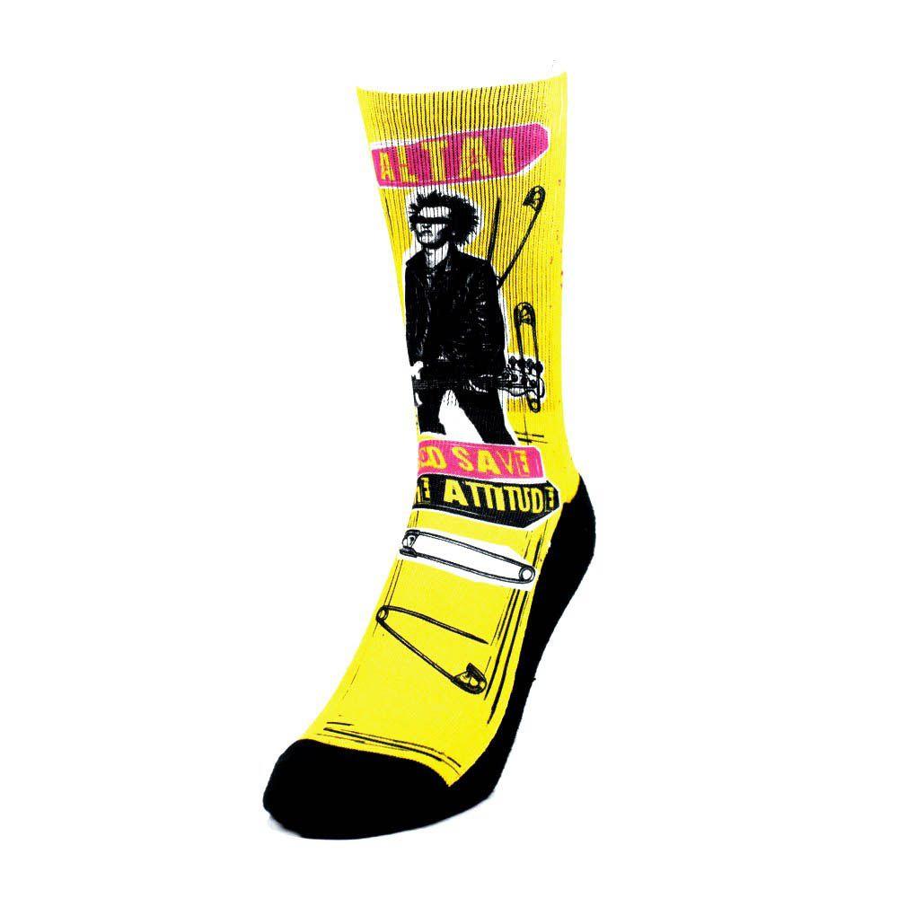 Meia Altai Punk Rock - Amarelo