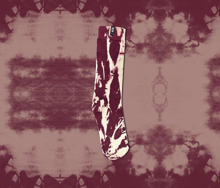 Meia Altai Tie Dye - Bordô (Limitada)