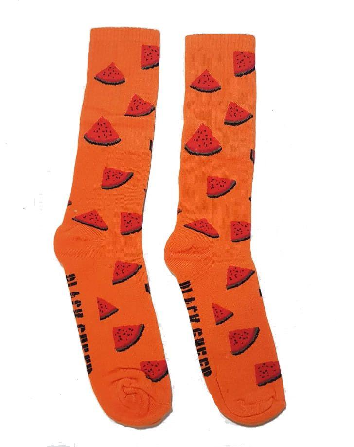 Meia Black Sheep Fritas Watermellon Orange