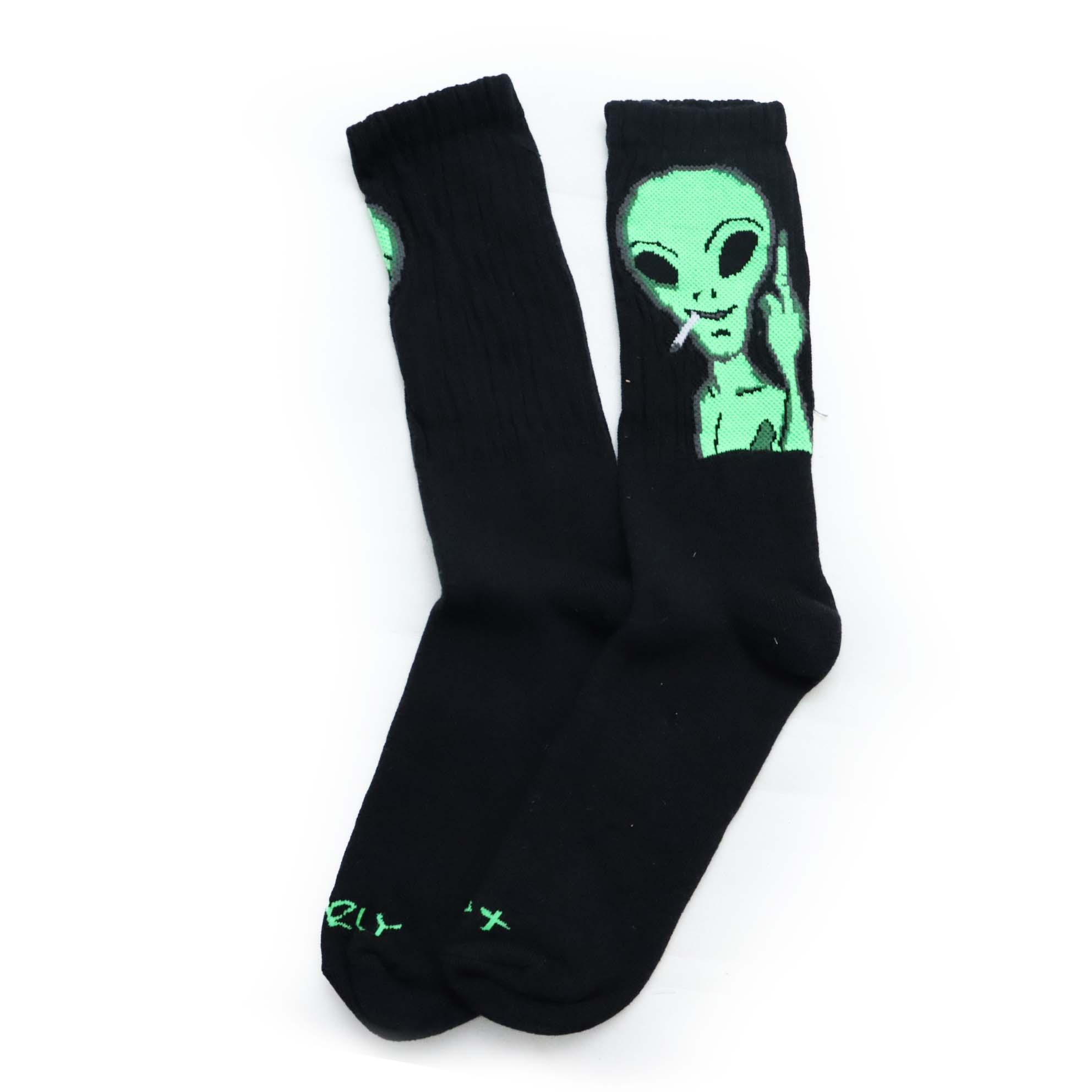 Meia Gnarly Alien Technology Space Fuck - Preto
