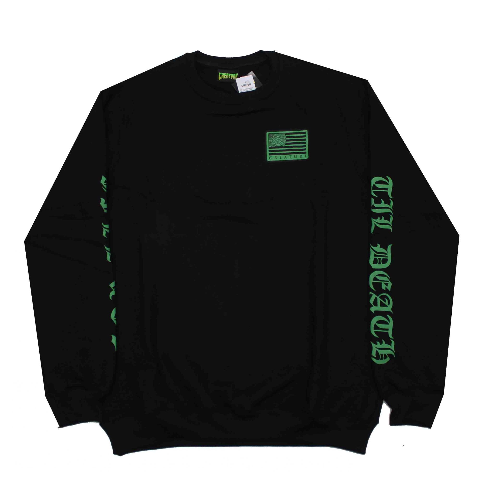 Moletom Creature Crewneck United We Lurk Black