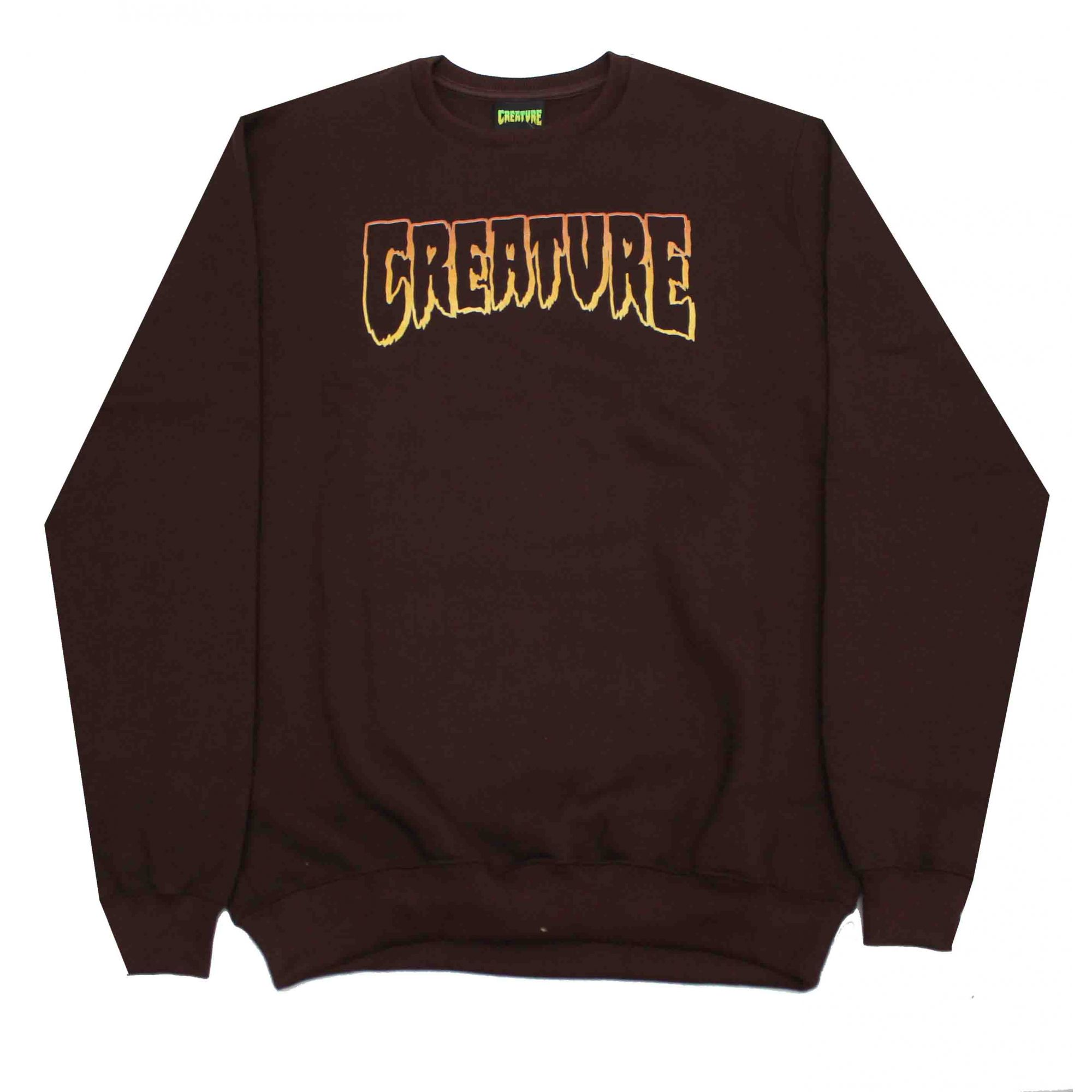 Moletom Creature Logo Outline Brown