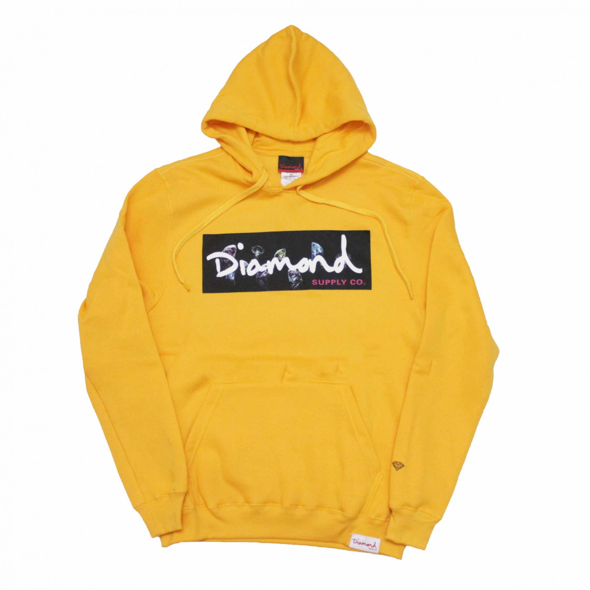 Moletom Diamond Canguru Colors Box Logo Amarelo