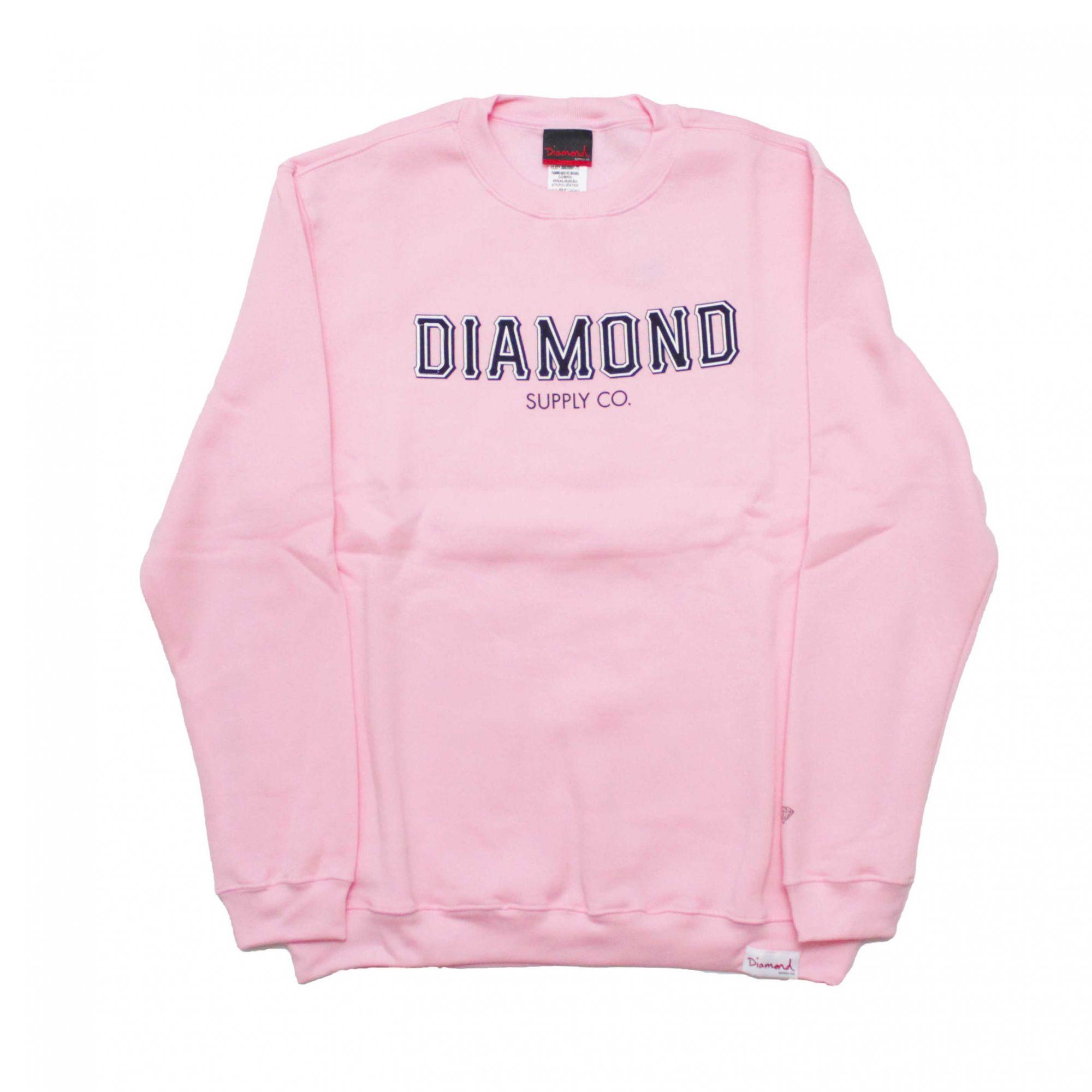Moletom Diamond Careca SF Fleece Rosa